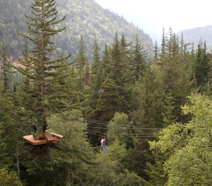 Incredible mountain views from the top of the Ziplines
