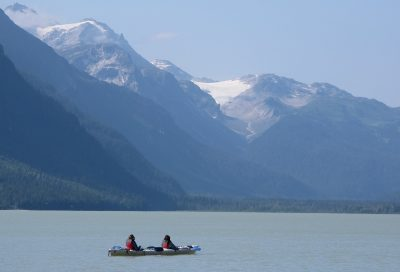 Breathtaking glacier views on our Wilderness Kayak Adventure