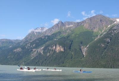 Paddle stable 3-person Kayaks on Chilkoot Lake - Wilderness Kayak Adventure