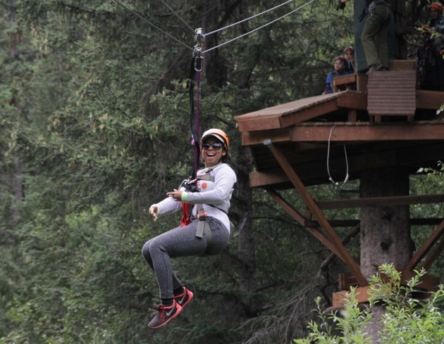 All smiles starting into the last Zip!
