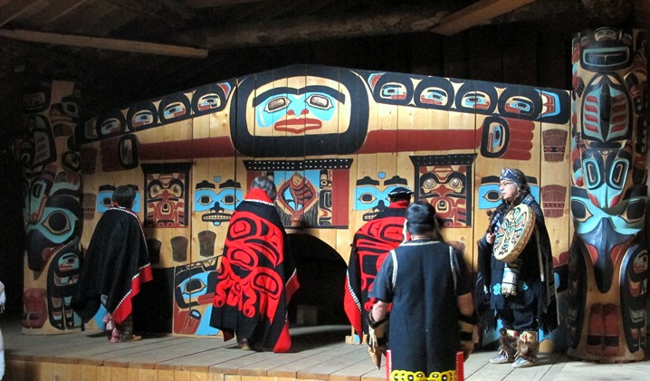 Drumming and dance at the Tlingit village of Klukwan