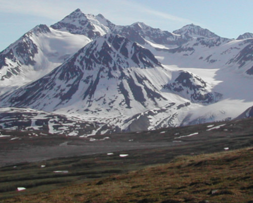 Early season offers great views of snowy peaks and glaciers
