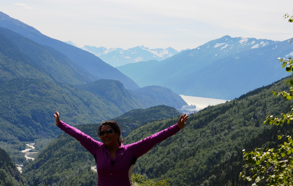 Beautiful view at the top overlooking the Taiya Inlet
