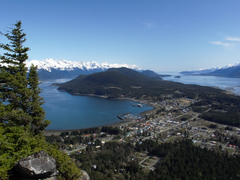 Overlooking the town of Haines and the Lynn Canal