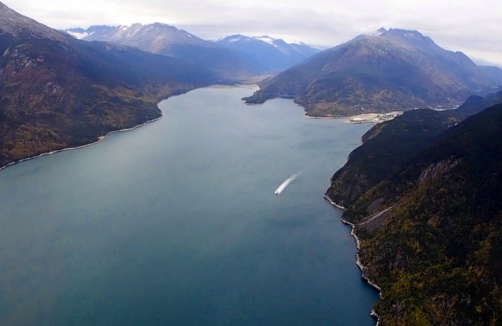 Heading out of Skagway, as seen from the air