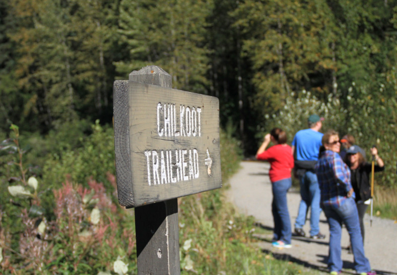 Trailhead for the Historic Chilkoot Trail