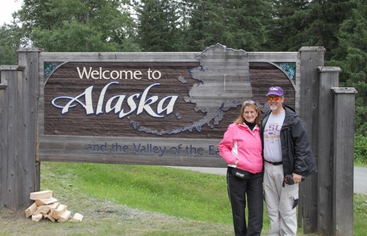 Photo opportunity upon returning to Alaska from the summit