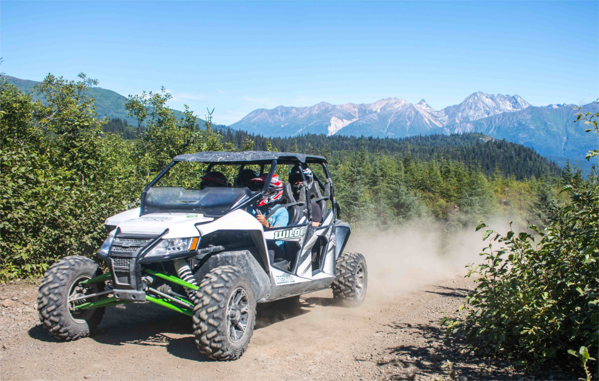 Drive fun sport UTV side-by-sides through the Alaska Backcountry