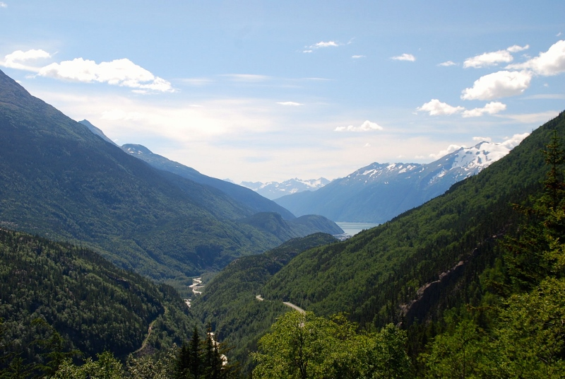 View from the top of the Skagway Adventure Hike