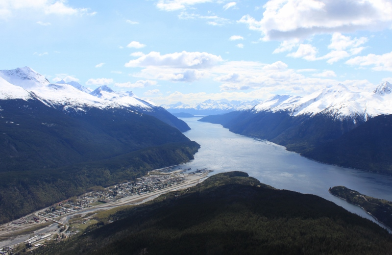 Town of Skagway and the Taiya Inlet
