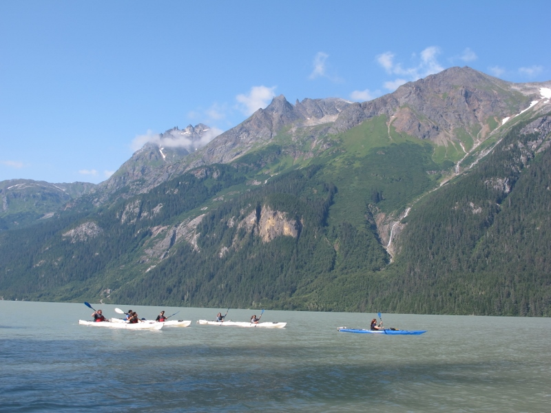 Kayaking on Chilkoot Lake in Haines - a short ferry ride from Skagway