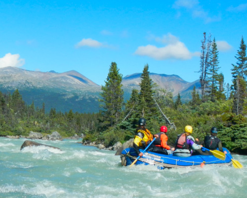 Upper stretches of Tutshi offer fun Class III whitewater