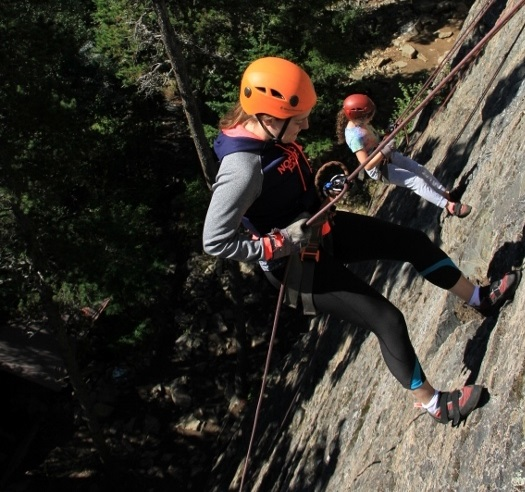 Rappel down an 80' granite face
