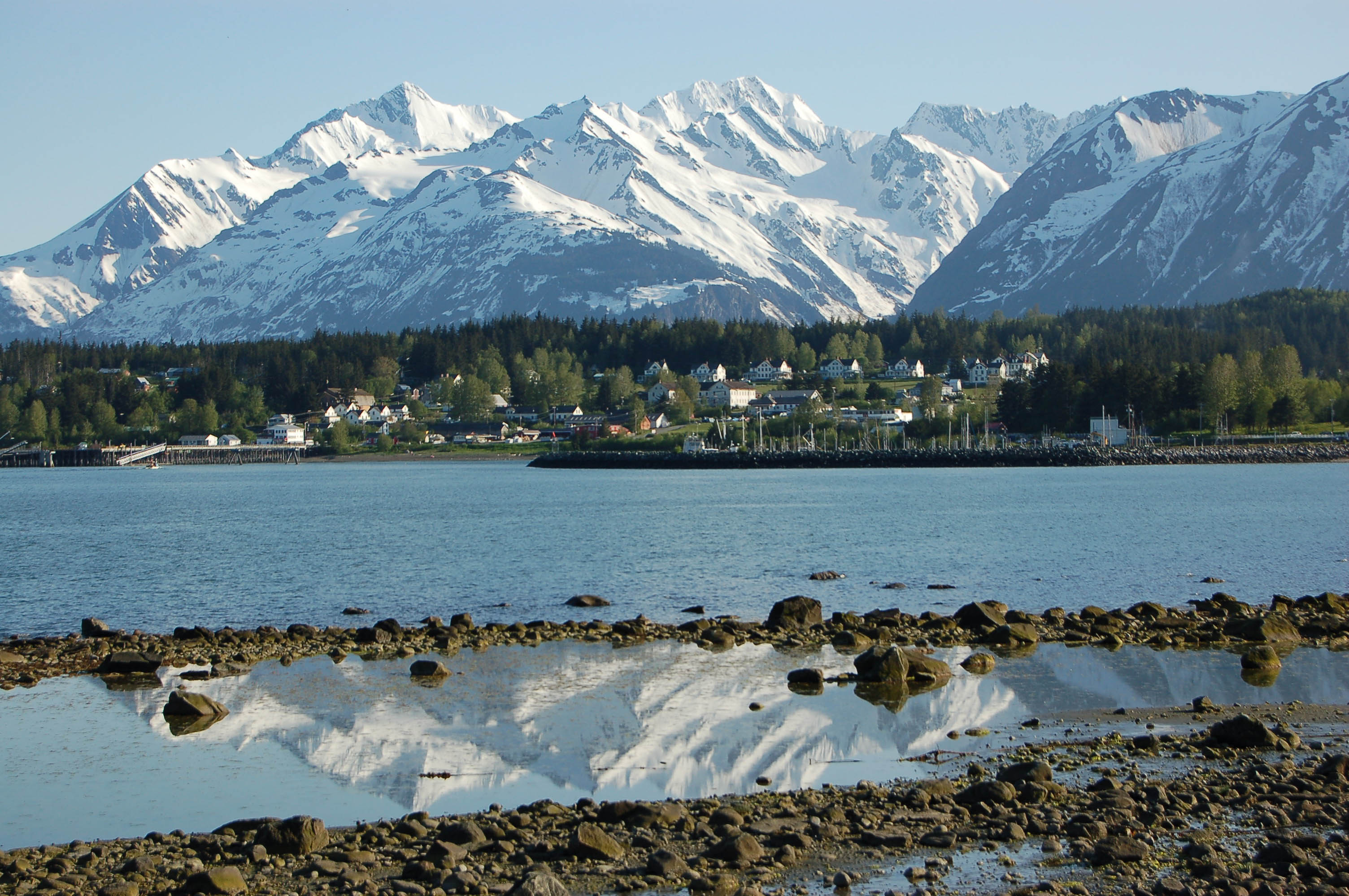 Ft. Seward with the Chilkat Mountains in the background