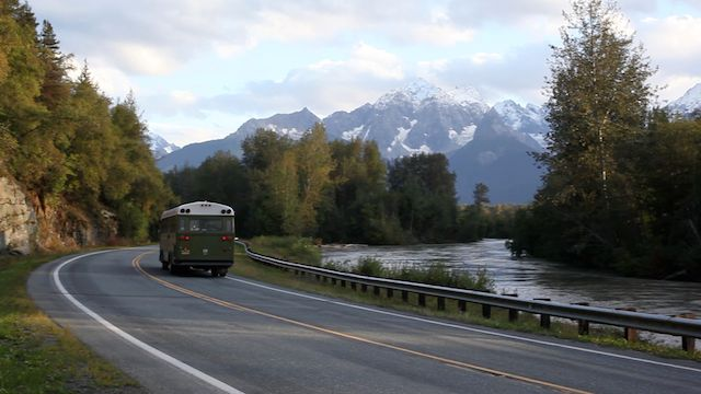 On our way to Klukwan, we drive through the Chilkat Bald Eagle Preserve