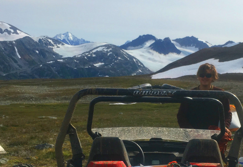 Basking in the alpine tundra views at the top