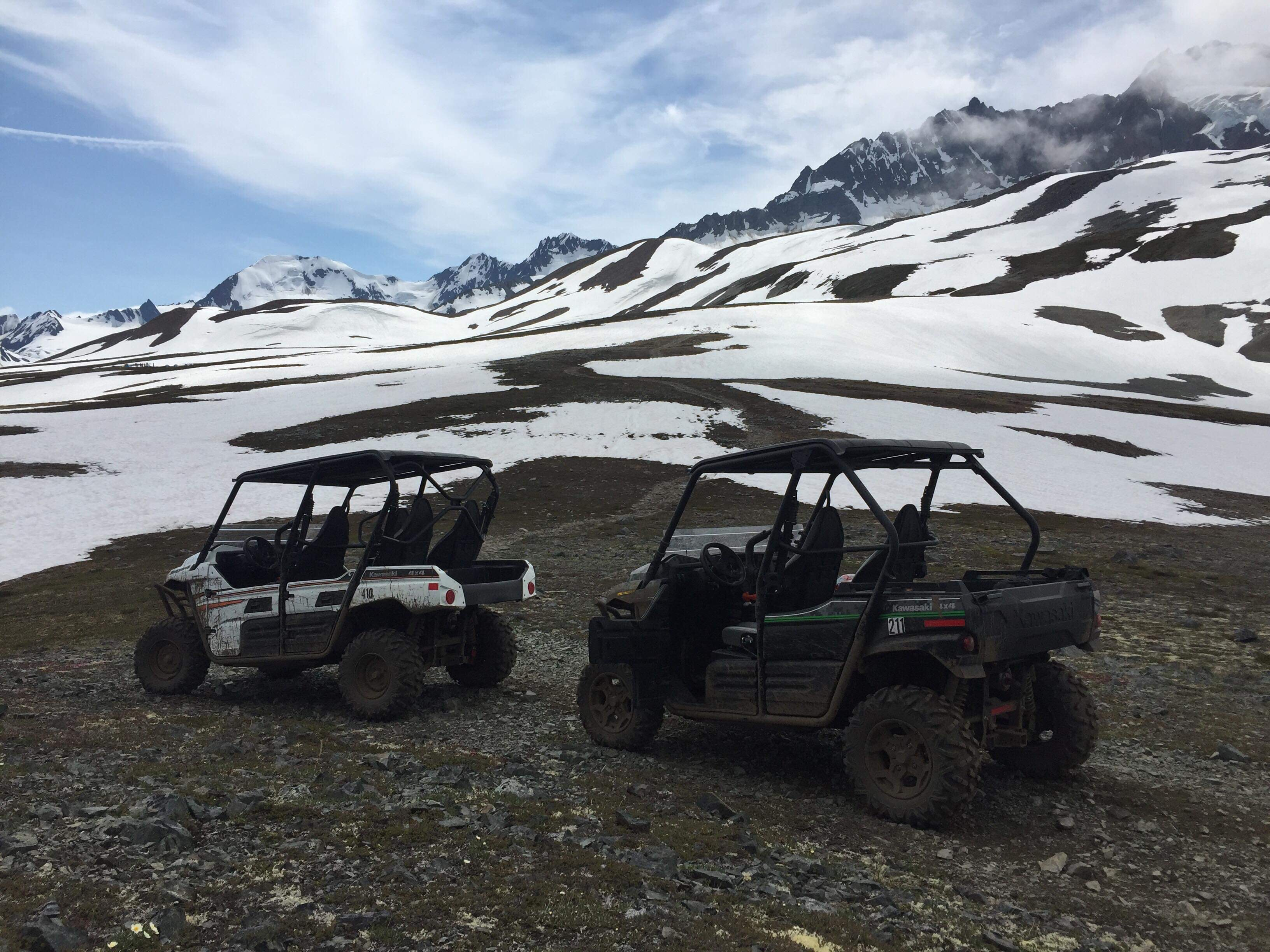 The top of the route leads to glacier views, and snow late into July